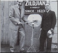 Gene with Avedis Zildjian.